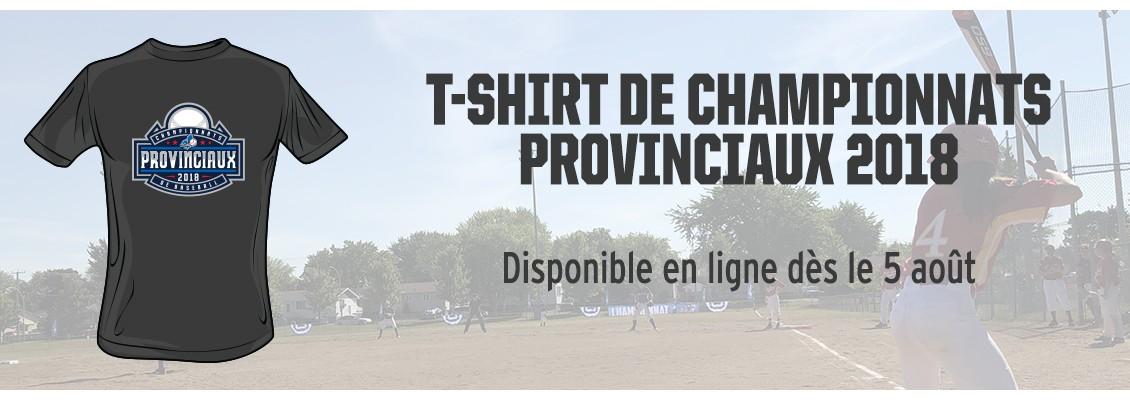 T-shirt provinciaux 2018